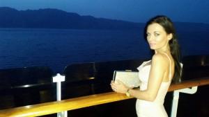 Cunard fashion cruise beige dress