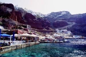 Santorini magical port amazing colours