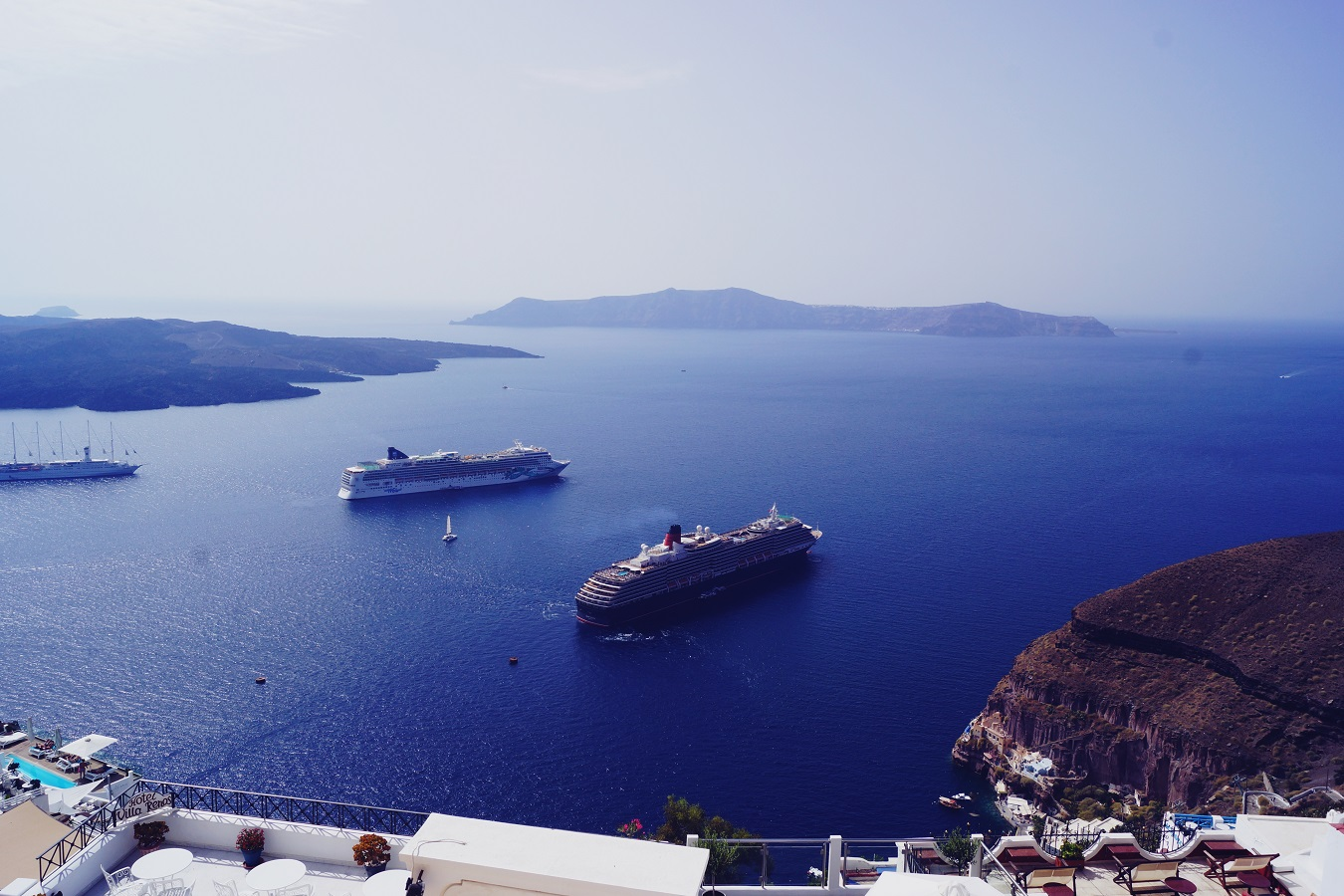 santorini cruise cunard queen victoria