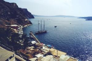santorini port travel