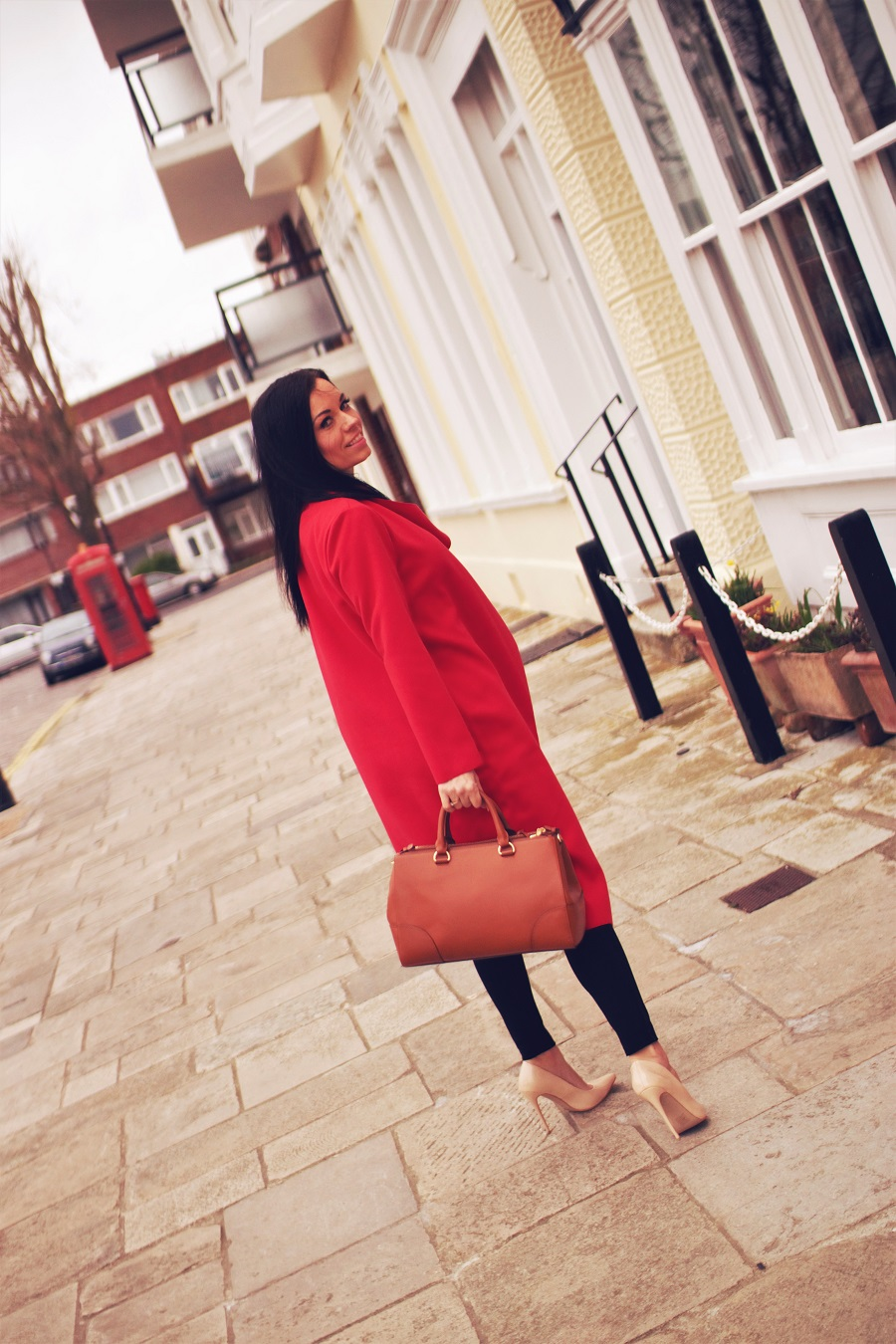 belucce fashion red missguided coat