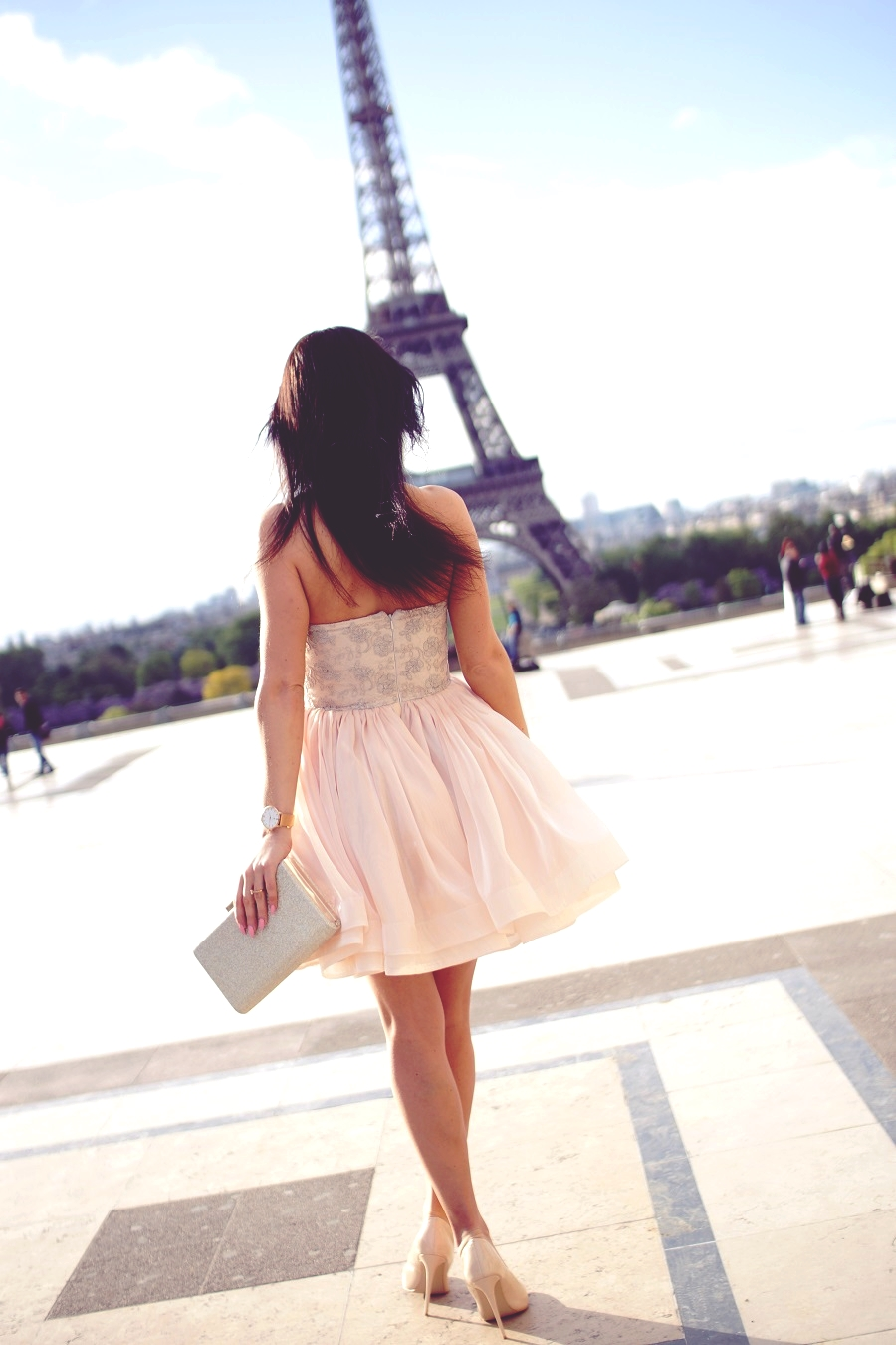 paris dress high heels
