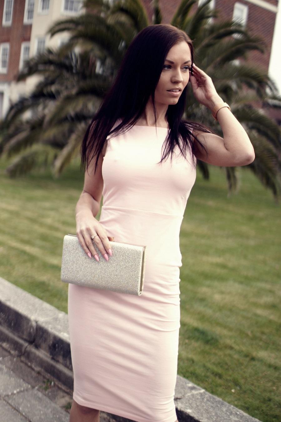Asos pink dress english fashion