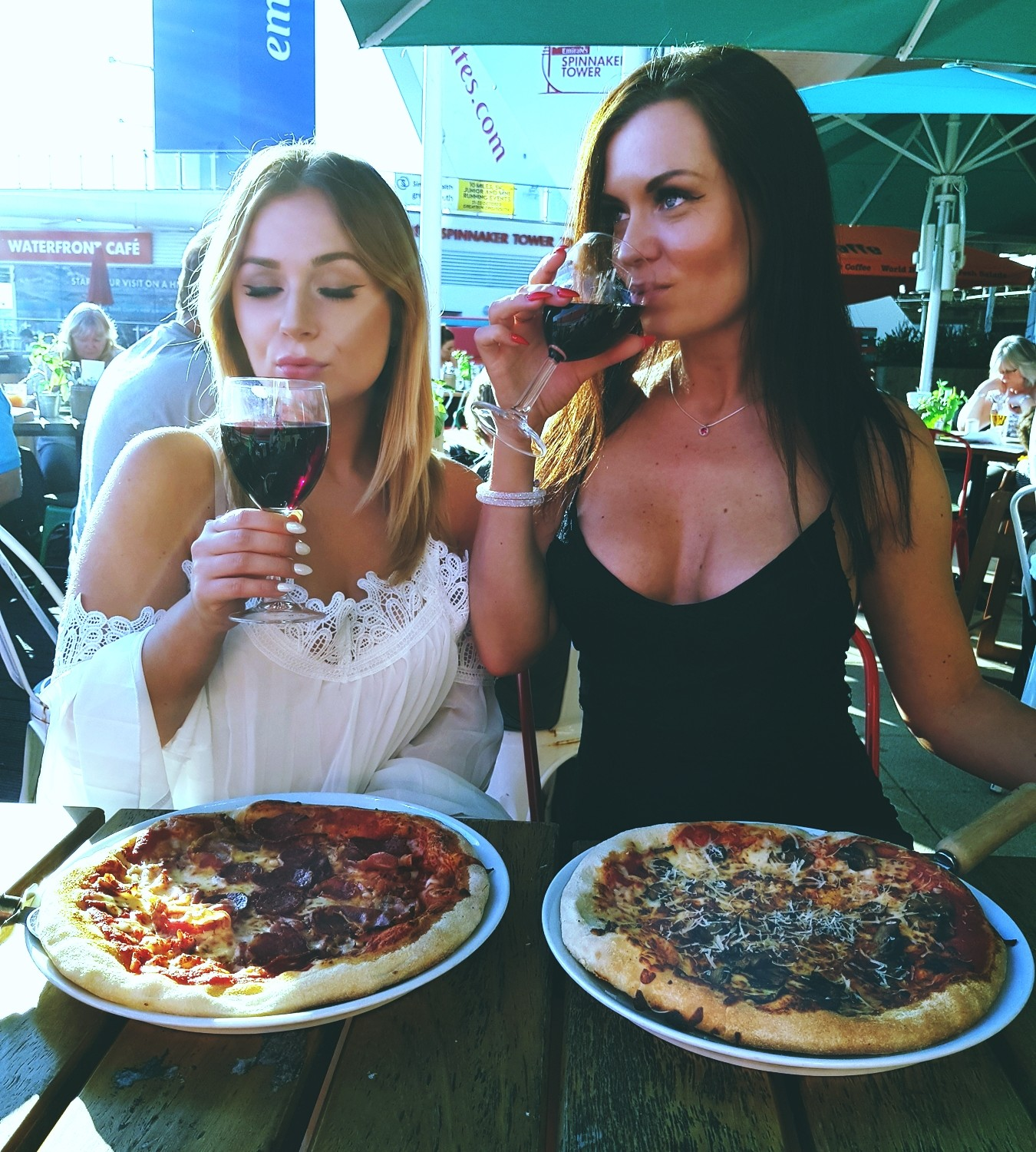 clean eating pizza cheese and wine processed food
