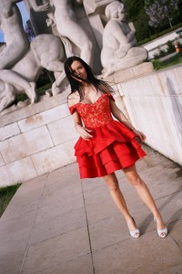 paris red dress lou womens fashion