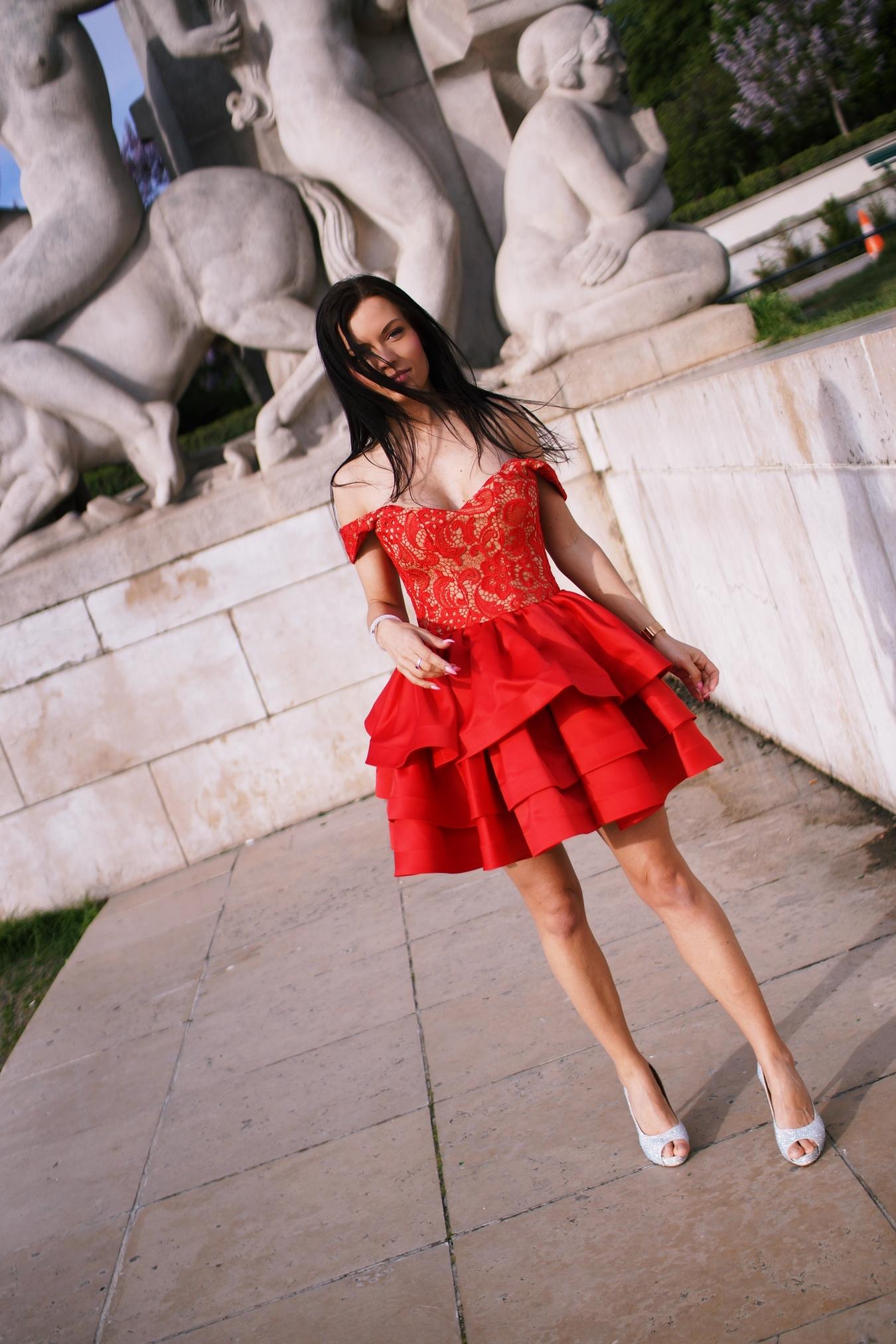 paris red dress lou womens fashion