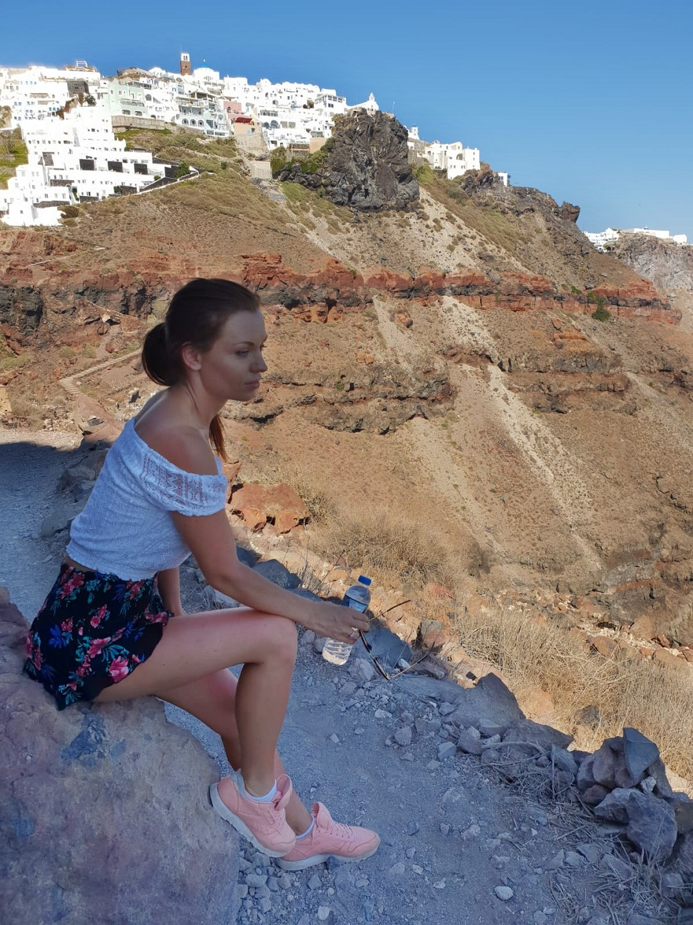 holiday exercise in santorini