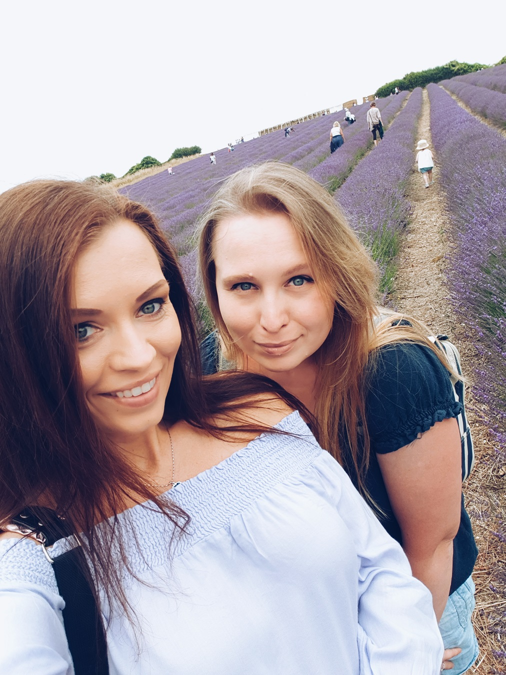sisters at lavender fields
