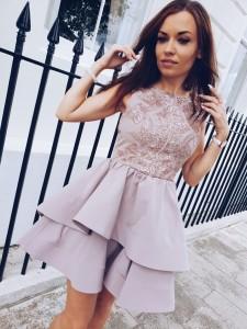 beige colour dress