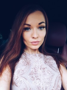 beige colour dress makeup