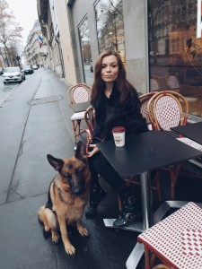 coffee in Paris with my dog